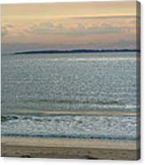 Shimmering Sunlight Upon The Sea Canvas Print