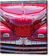 Shiny Red Ford Convertible. Canvas Print