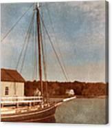 Ship At Dock Canvas Print