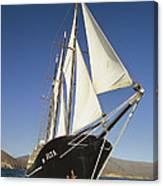 Ship Sailing Through The Galapagos Canvas Print