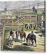 Shipping Cattle, 1877 Canvas Print