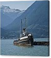 Shipping Freighter In Squamish British Columbia No.0187 Canvas Print