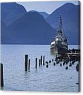 Shipping Freighter In Squamish British Columbia No.0201 Canvas Print