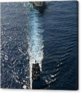 Ships From The John C. Stennis Carrier Canvas Print