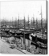 Ships In Harbour 1900 Canvas Print