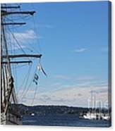 Ships In Oslo Harbor Canvas Print