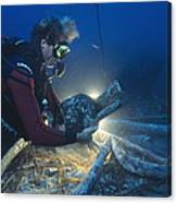 Shipwreck Excavation Canvas Print