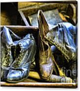 Shoe - Vintage Ladies Boots Canvas Print