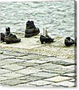 Shoes On The Danube Bank - Budapest Canvas Print