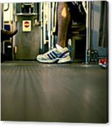 Shoes On The L Canvas Print