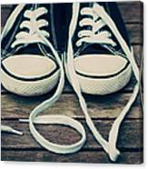 Shoes With Laces Canvas Print
