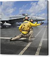 Shooters Give The Signal To Launch An Canvas Print
