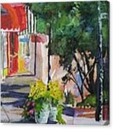 Shopping In Basalt Canvas Print
