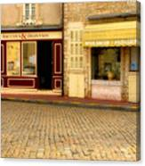 Shops In Beaune France Canvas Print