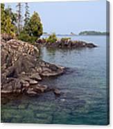 Shore Of Isle Royale Canvas Print