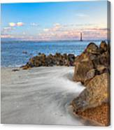 Shoreline View Morris Island  Canvas Print