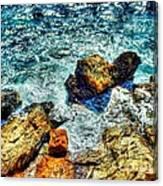 Shores Of The Aegean Canvas Print