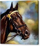 Show Horse Painting Canvas Print