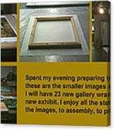 Show Preparations Canvas Print