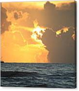 Shrimp Boat Sunrise Canvas Print