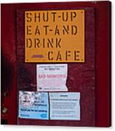 Shut-up Eat-and Drink Cafe In Palouse Washington Canvas Print