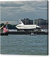 Shuttle Enterprise Flag Escort Canvas Print