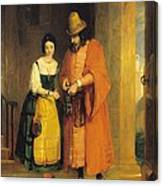 Shylock And Jessica From 'the Merchant Of Venice' Canvas Print