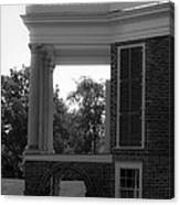Side View South Portico Bw Canvas Print