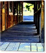 Side Walk Canvas Print