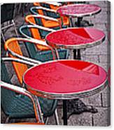 Sidewalk Cafe In Paris Canvas Print