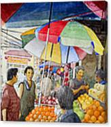 Sidewalk Vendors Canvas Print
