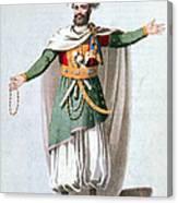 Sidy Hafsan, Bey Of Tripoli, 1816 Canvas Print