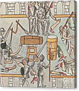 Siege Of Tenochtitlan, 1521 Canvas Print