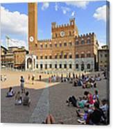 Siena Italy - Piazza Del Campo Canvas Print