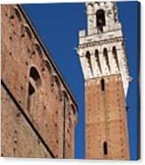 Siena, Torre Del Mangia Canvas Print