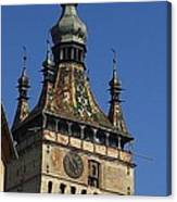 Sighisoara clock tower 2 Canvas Print