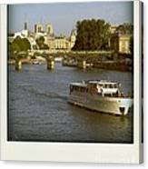 Sightseeings On The River Seine In Paris Canvas Print