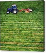 Silage Making, Ireland Canvas Print