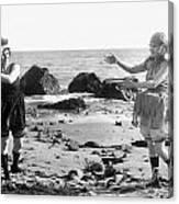 Silent Film Still: Beach Canvas Print
