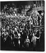 Silent Film Still: Crowds Canvas Print