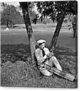 Silent Film Still: Golf Canvas Print