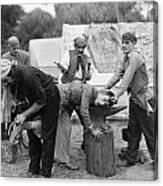 Silent Film Still: Gypsies Canvas Print