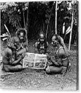 Silent Film Still: Natives Canvas Print