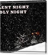 Silent Night Card Canvas Print