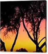 Silhouette Of Autumn Canvas Print