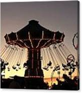 Silhouetted Amusement Ride Canvas Print