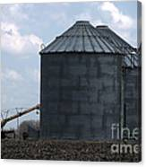 Silos And Augers Canvas Print