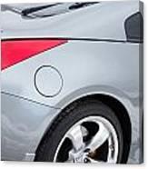 Silver 350z Nissan Canvas Print