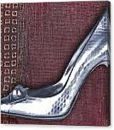 Silver Crocodile Pump Canvas Print