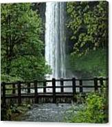 Silver Falls 2 In Oregon Canvas Print